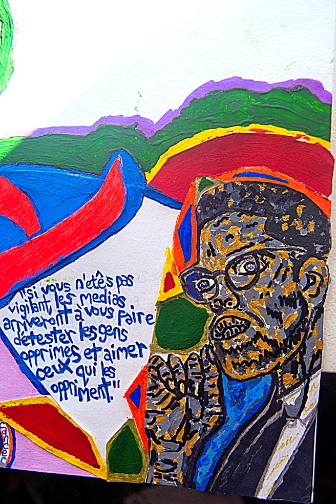 Malcolm X close up unfinished